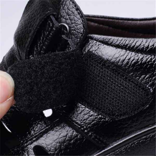 Men sandals breathable hollow hole shoes middle-aged soft-soled shoes