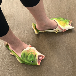 Funny Fish Slippers-Women Slippers