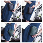 *Woman Irregular Little Phone Bag Casual PU Crossbody Bag Bucket Bag*