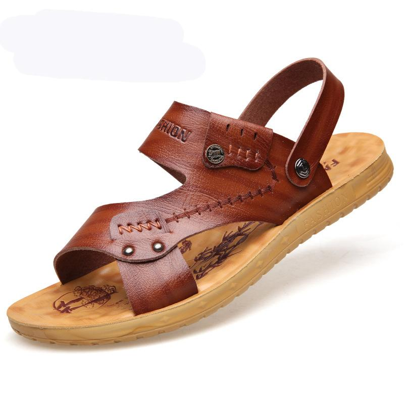 Men Microfiber Leather Opened Toe Water Friendly Outdoor Sandals