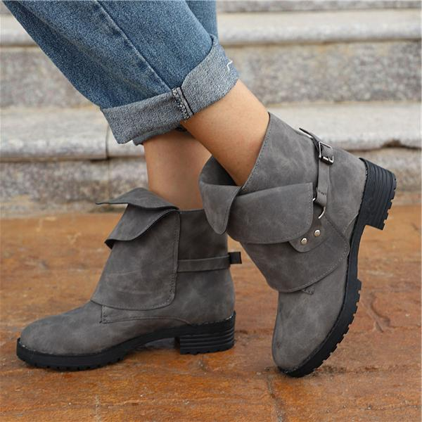 Women's  Retro Large Size Martin Boots