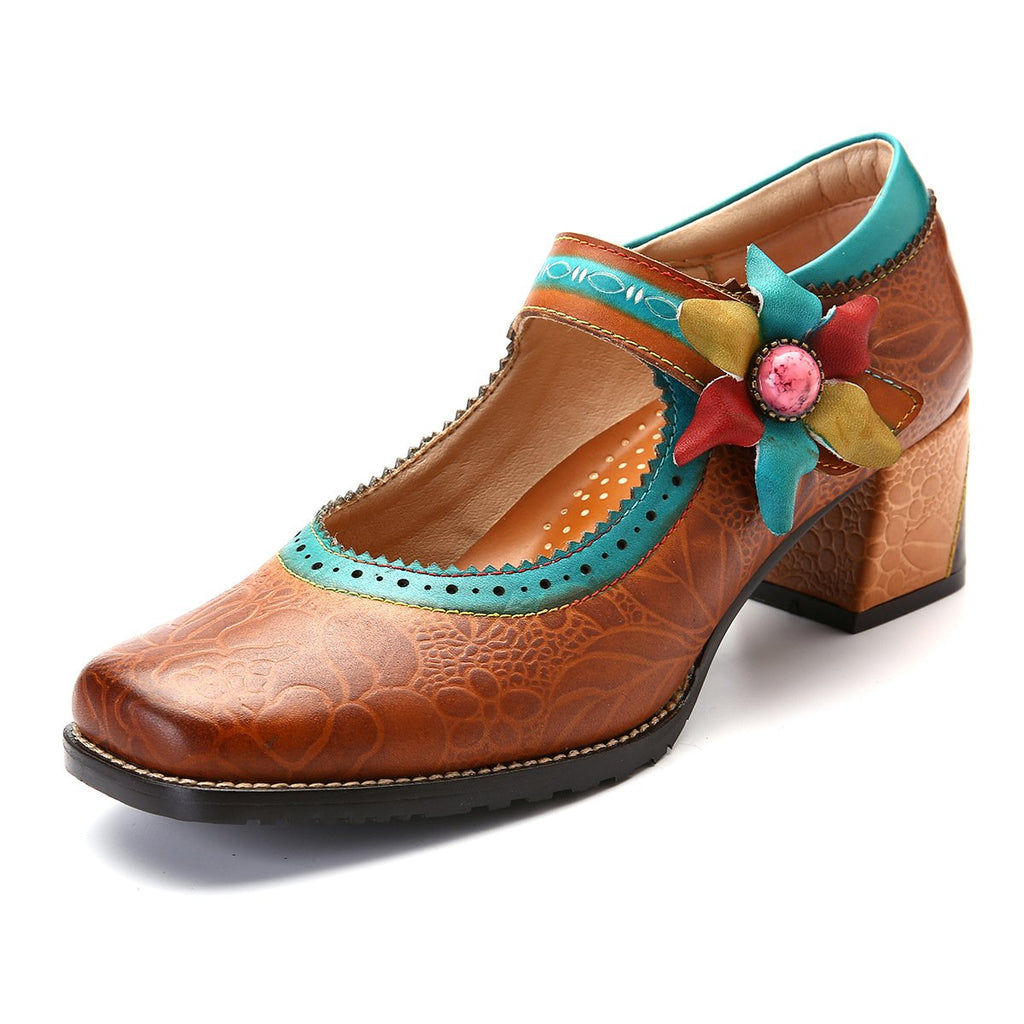 Women's Handmade Leather Mary Jane Shoes