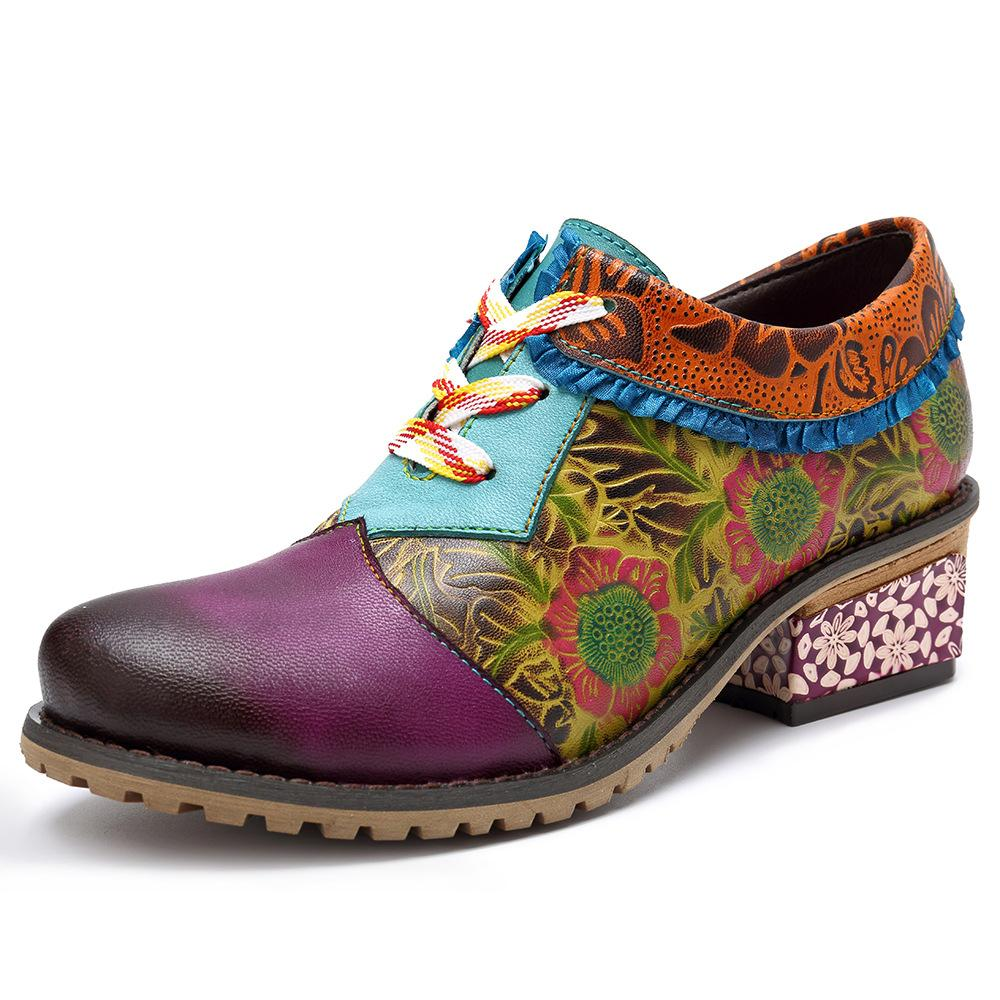 Women's Casual Vintage Ethnic Style Leather Fashion Shoes