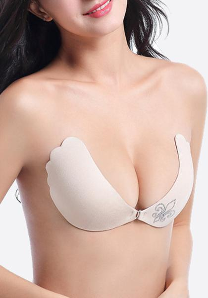 Wings Front Closure Adhesive Strapless Bra