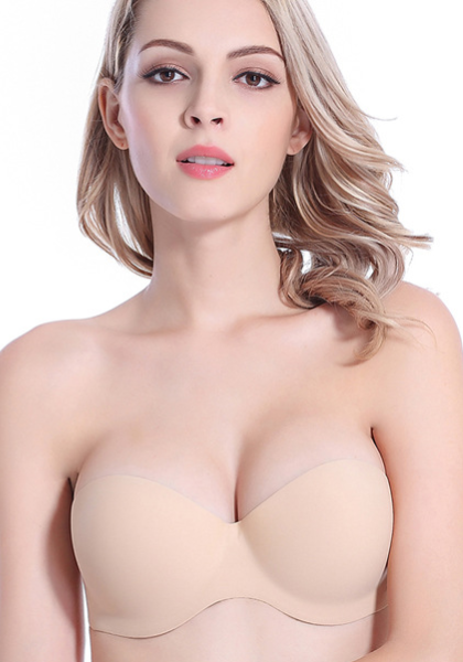 Strapless Inflatable Air Pump Cups Bra