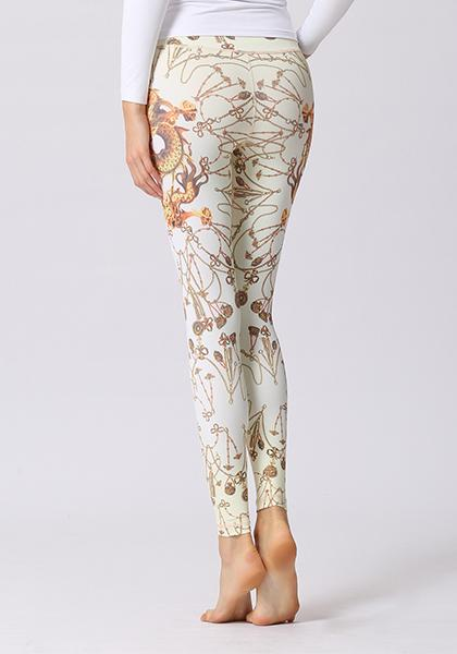 Chinese Dragon Printed Leggings