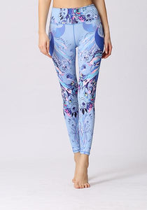 Peacock Printed High Elasticity Leggings