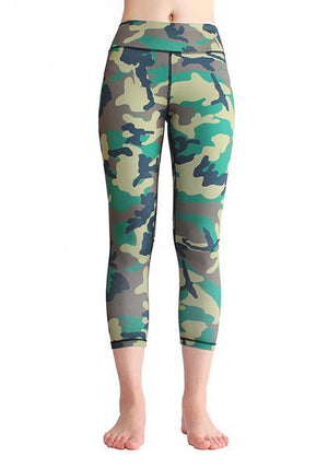 High Waist Camo Booty Legging With Pocket On Waistband