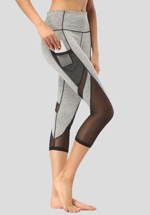 Pocket Mesh High Waist Capris