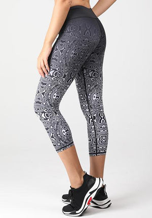 Printed Gradient Tight With Pocket