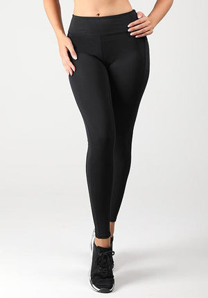 Solid Pocket High Waist Capris
