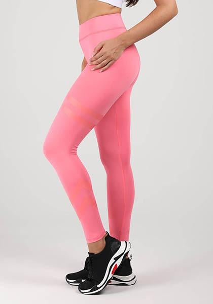 Solid Splicing High Waist Leggings