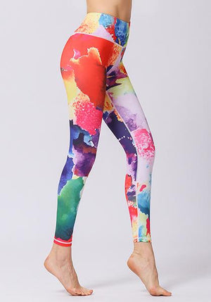 Multicolor Printed High Waist Leggings
