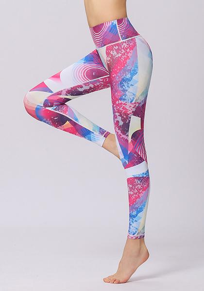 Geometry Pattern High Waist Leggings