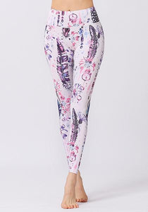 Plants Printed High Waist Leggings