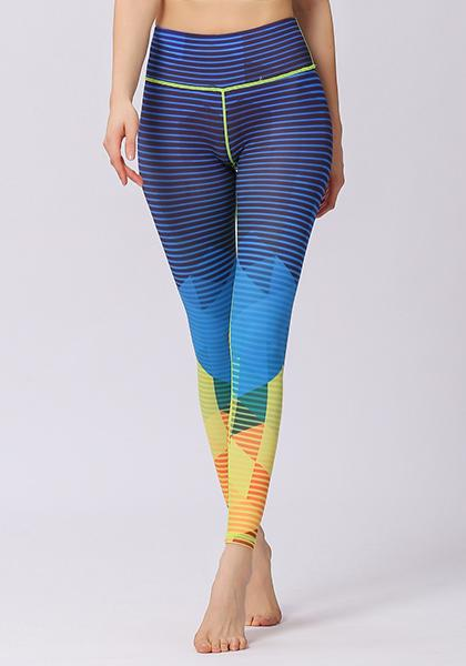 Stripe Printed High Waist Leggings