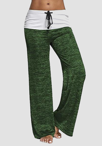 Relaxed High-Waist Baggy Drawstring Yoga Pants-Long Leggings-2ubest.com-Deep Green-S-2UBest.com