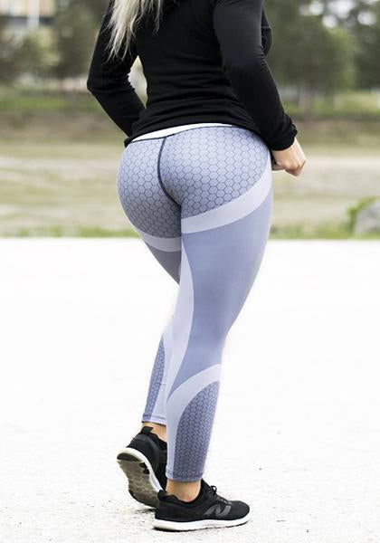 Skinny Faveolate Pattern Stripe Printed Workout Yoga Leggings