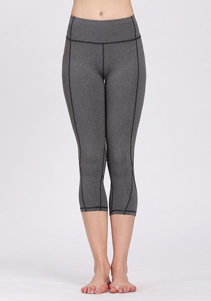 Solid - Color Yoga Seven - Point Pants