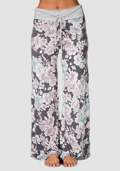 Relaxed Loose Baggy Floral Printed Pants-Long Leggings-2UBest.com-Light Pink-S-2UBest.com