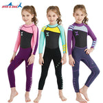 Girls 2.5mm Wetsuit Long Sleeve UV Protection Thermal Swimwear