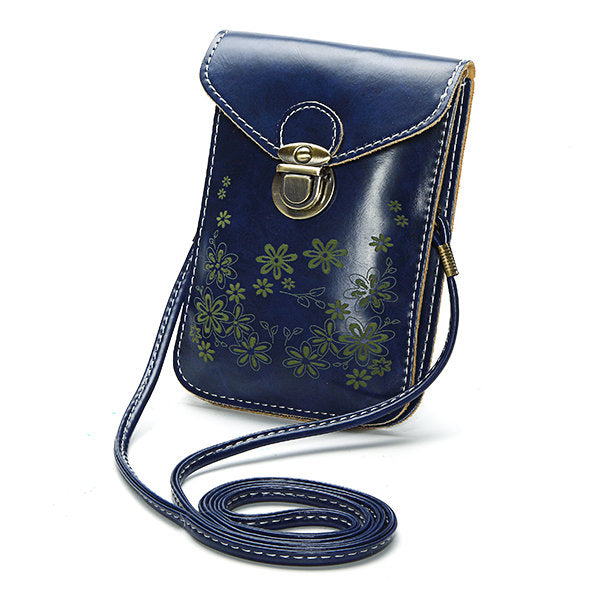Women Candy Color Flower Crossbody Bag 6inch Phone Bag Portable Shoulder Bags