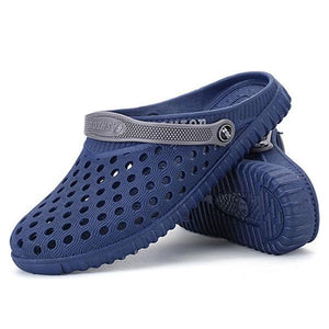 Men Hollow Out Beach Casual Slipper Sandals In Mesh