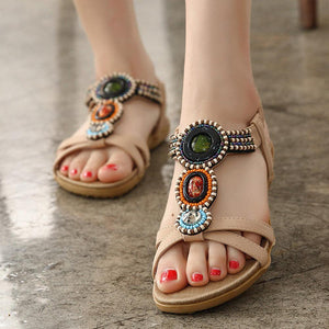 Bohemia Beaded Opened Toe Wearable Sandals