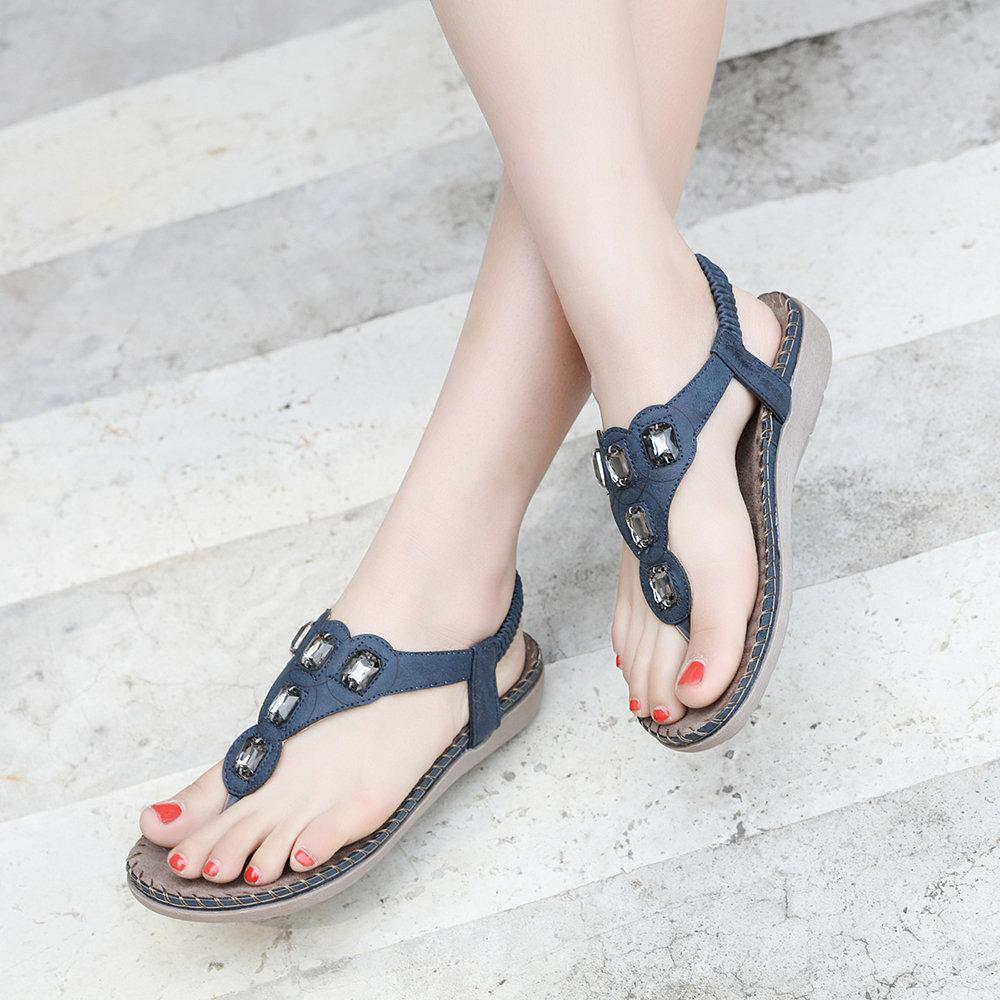 Large Size Bohemia Summer Beach Flat Casual Sandals