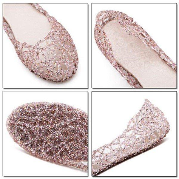 Bling Breathable Candy Color Flat Shoes