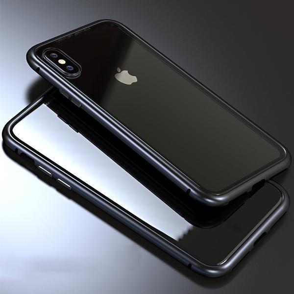 Magnet Absorption Metal Case for Iphone-Home & Garden-romancci.com-Black-IPX-Clear-Romancci