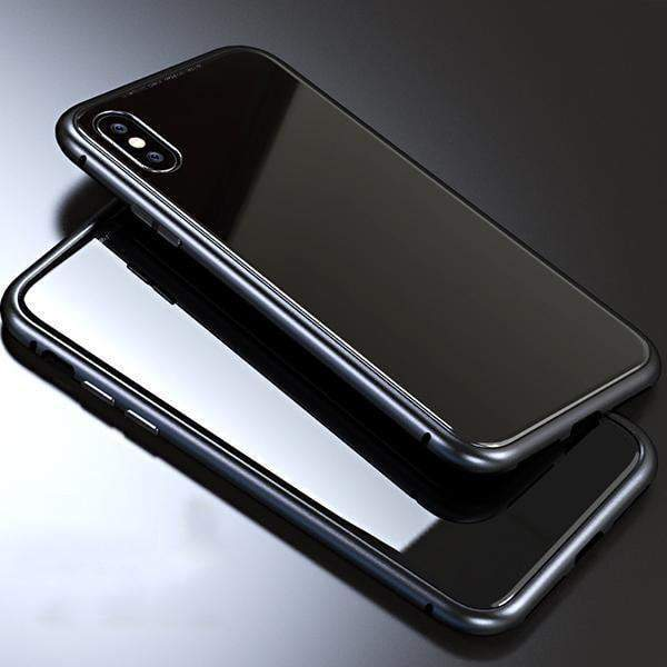 Magnet Absorption Metal Case for Iphone-Home & Garden- crazepet.com-Black-IPX-Full-Romancci