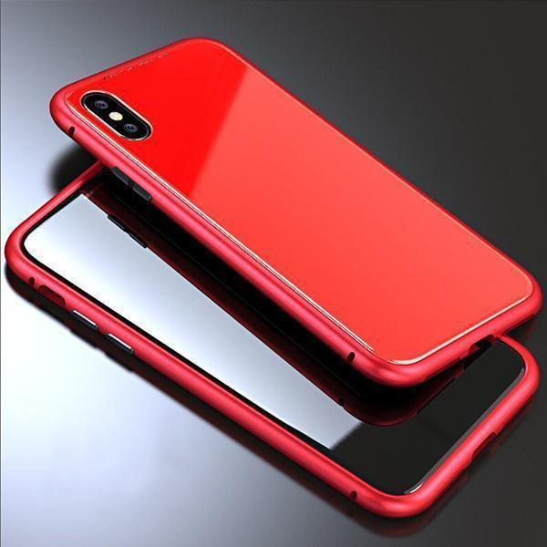 Magnet Absorption Metal Case for Iphone-Home & Garden-romancci.com-Red-IPX-Full-Romancci