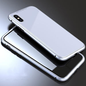Magnet Absorption Metal Case for Iphone-Home & Garden-romancci.com-Silver-IPX-Full-Romancci