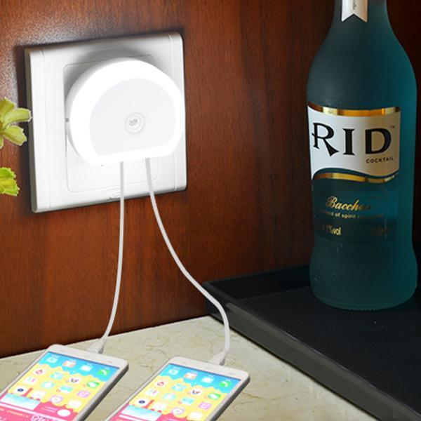 Night Light with USB Ports Charger-Lights-Prime4Choice.com-