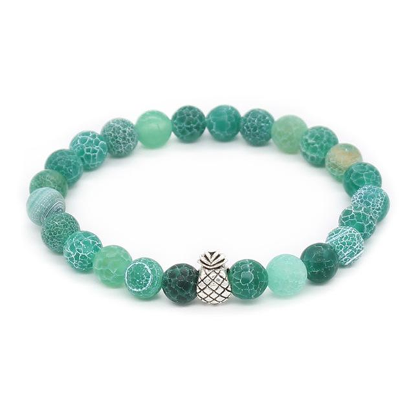 Pineapple Charm Lucky Color Beads Bracelets-Aromatherapy Leather Bracelet-Prime4Choice.com-Green-