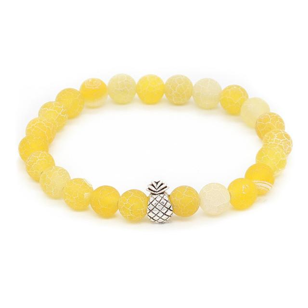Pineapple Charm Lucky Color Beads Bracelets-Aromatherapy Leather Bracelet-Prime4Choice.com-Yellow-