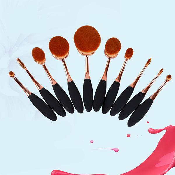 Professional 10 Piece Oval Brush Set-Facial Care-Prime4Choice.com-