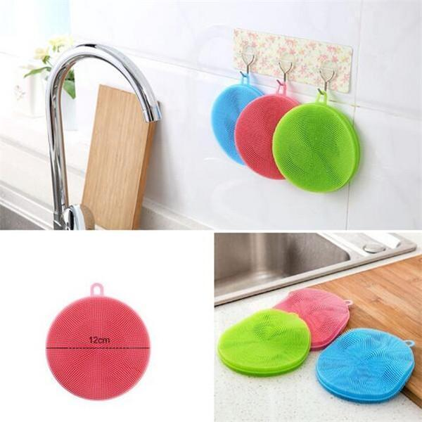 Round Silicone Dish Washing Sponge-Dish Cleaning-Prime4Choice.com-