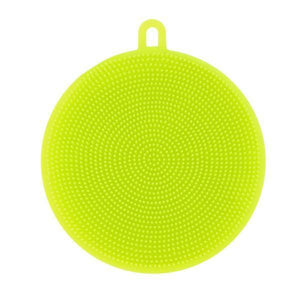 Round Silicone Dish Washing Sponge-Dish Cleaning-Prime4Choice.com-Green-