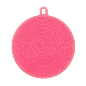 Round Silicone Dish Washing Sponge-Dish Cleaning-Prime4Choice.com-Pink-
