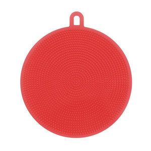 Round Silicone Dish Washing Sponge-Dish Cleaning-Prime4Choice.com-Red-