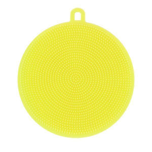Round Silicone Dish Washing Sponge-Dish Cleaning-Prime4Choice.com-Yellow-