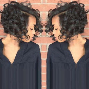 Short Fluffy Curly Hair Wig -Hair tools-Prime4Choice.com-