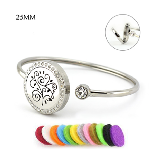 Sprout Aromatherapy Bangle Bracelet 25MM-Aromatherapy Leather Bracelet-Prime4Choice.com-