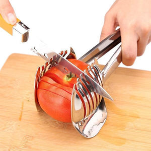 Tomato Slicer Multipurpose Handheld Round Fruit Tongs-Kitchen & Dining Tool-Prime4Choice.com-