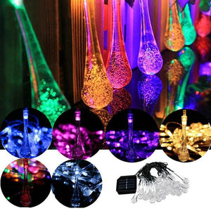 Waterproof Solar Powered Raindrop String Light-Lights-Prime4Choice.com-