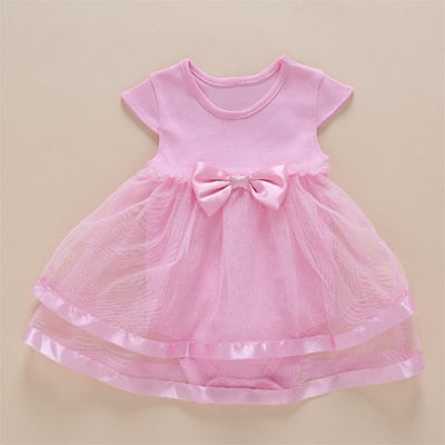 9daf1313624e New Born Baby Girls Infant Dress clothes Summer Kids Party Birthday ...