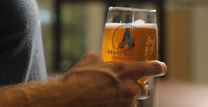 Athletic Brewing beer in glass
