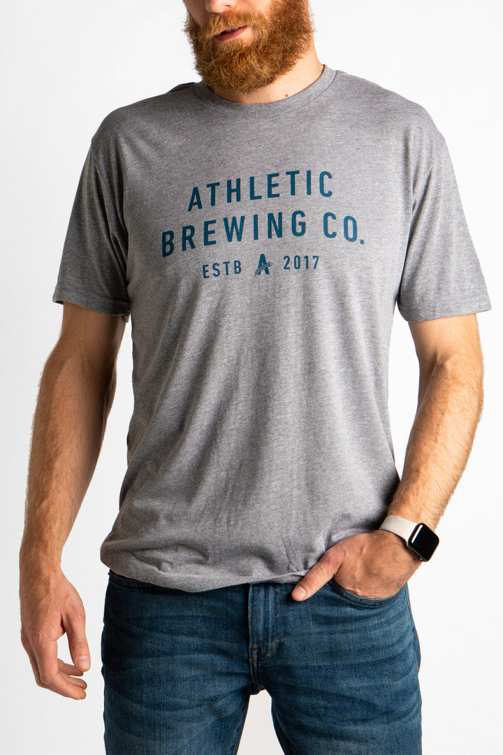Men's Athletic Brewing Co. T-Shirt Heather Grey